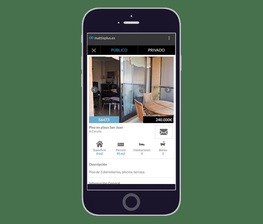 Ficha propiedad en App